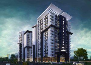 luxury apartments building